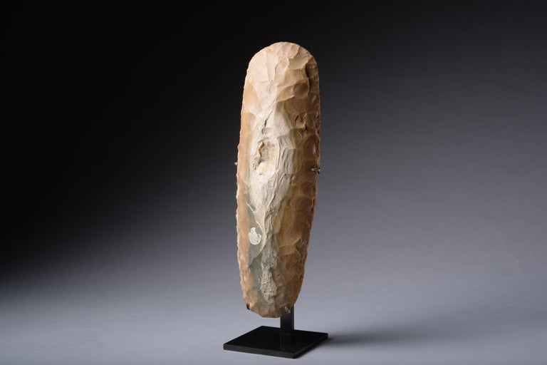 French Large Prehistoric Neolithic Flint Axe For Sale