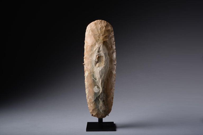Large Prehistoric Neolithic Flint Axe For Sale 3