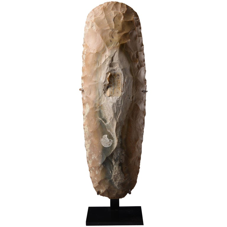 Large Prehistoric Neolithic Flint Axe For Sale