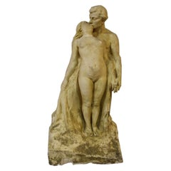 """Large Preparatory Workshop Sculpture by Alfred Finot for The """"Nymph and fauna"""""""