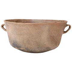 Large Primitive Clay Cooking Bowl
