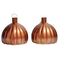 Large Pumpkin Shaped Hanging Lamp