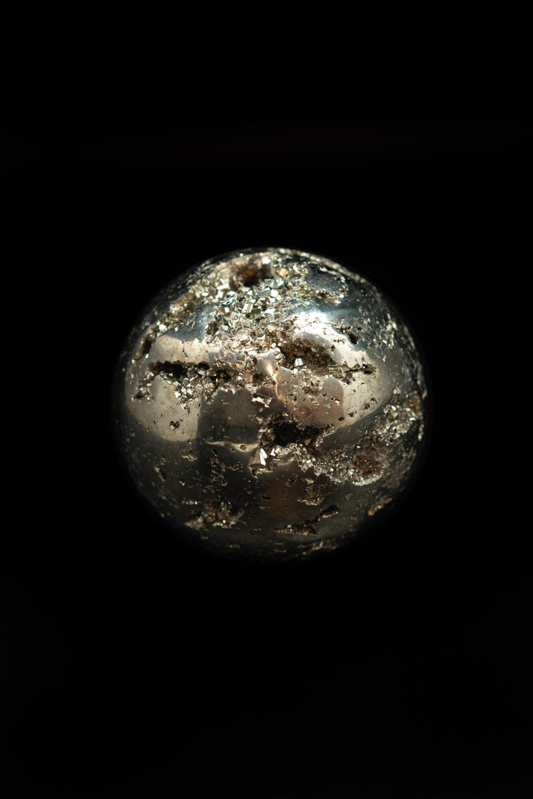 Contemporary Large Pyrite Sphere For Sale
