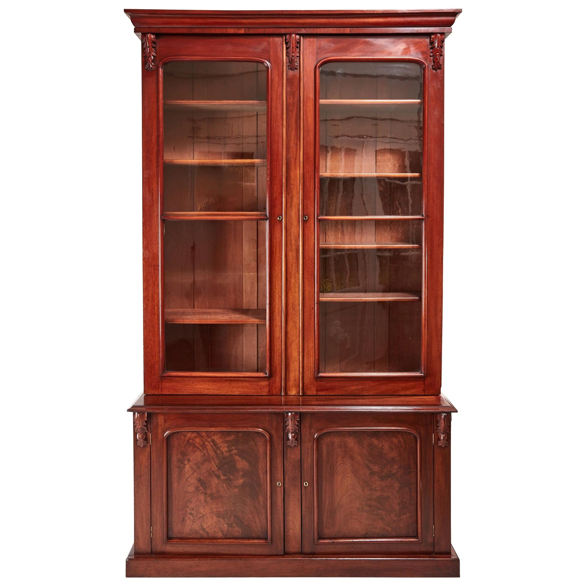 Large Quality Antique Victorian Mahogany Bookcase