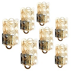 Large Quantity Glass Wall Lights Sconces by Helena Tynell for Glashütte, 1960