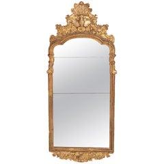 Large Queen Anne Gilt-Gesso Mirror, circa 1710