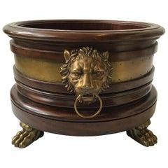 Ralph Lauren Large Wood  Lion Head Planter / Tub
