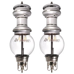 Large Rare 1901 Humphery Gas Lamps, Electrified