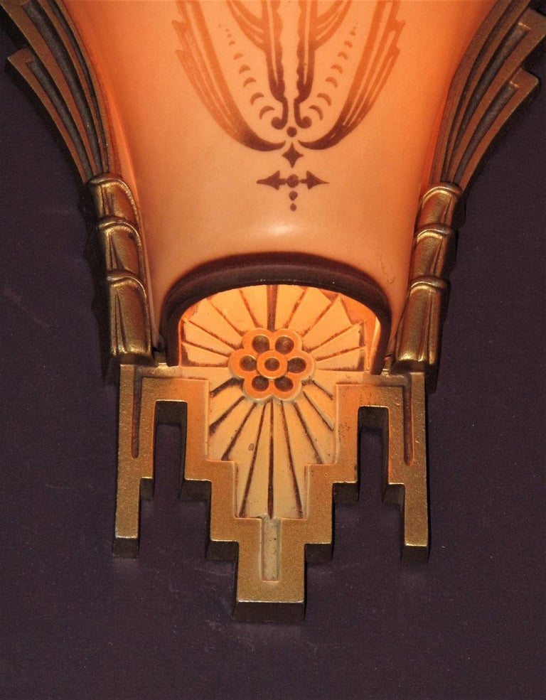 Large, Rare Beardslee Chandelier with Matching Sconces For Sale 2