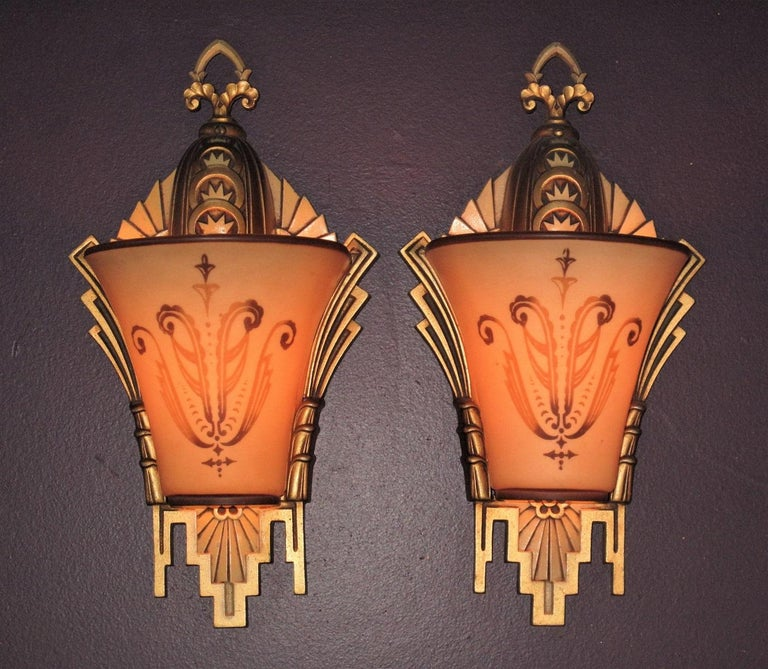 Large, Rare Beardslee Chandelier with Matching Sconces For Sale 3