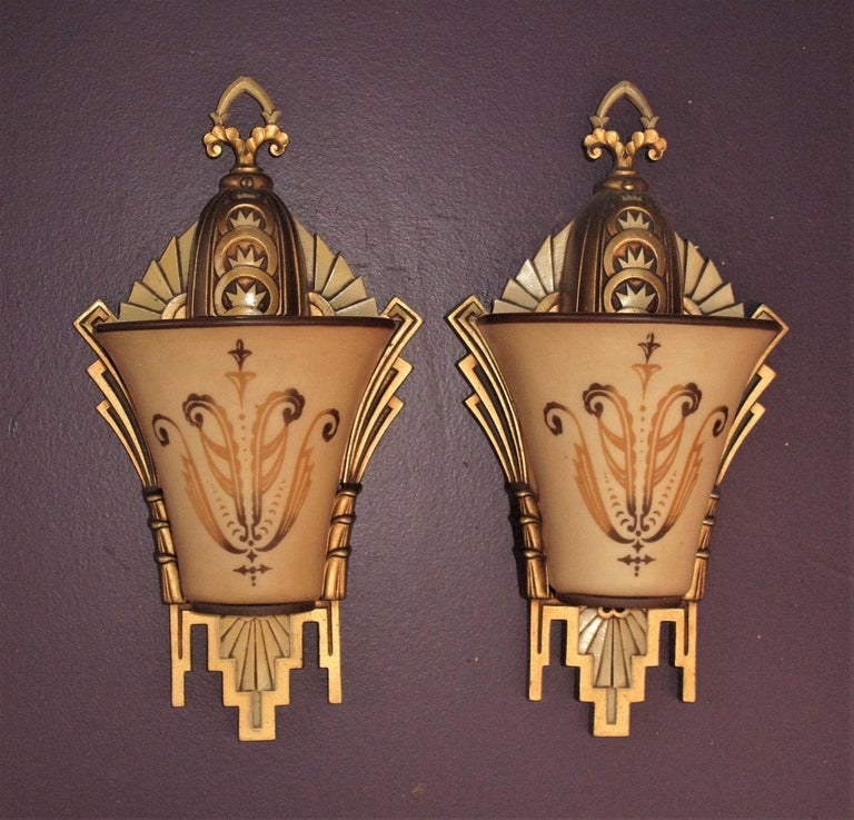 Large, Rare Beardslee Chandelier with Matching Sconces For Sale 4