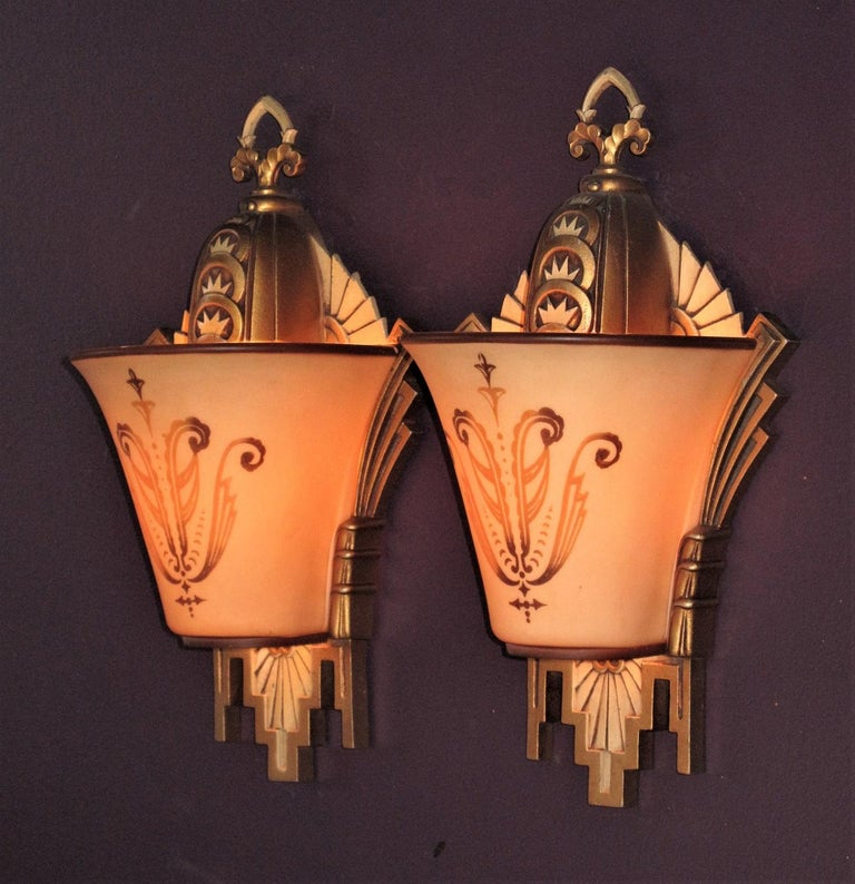 Early 19th Century Large, Rare Beardslee Chandelier with Matching Sconces For Sale