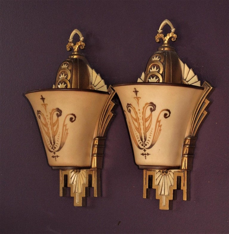 Aluminum Large, Rare Beardslee Chandelier with Matching Sconces For Sale
