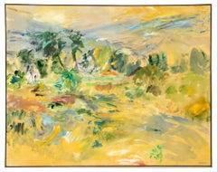 Large Rebecca J. Perehudoff Oil On Canvas, circa 1986, Fall