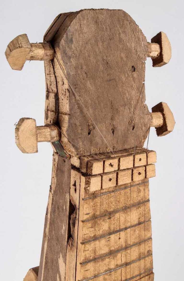 Large Reclaimed Wood Guitar Sculpture by African Folk Artist Nii Adum For Sale 6