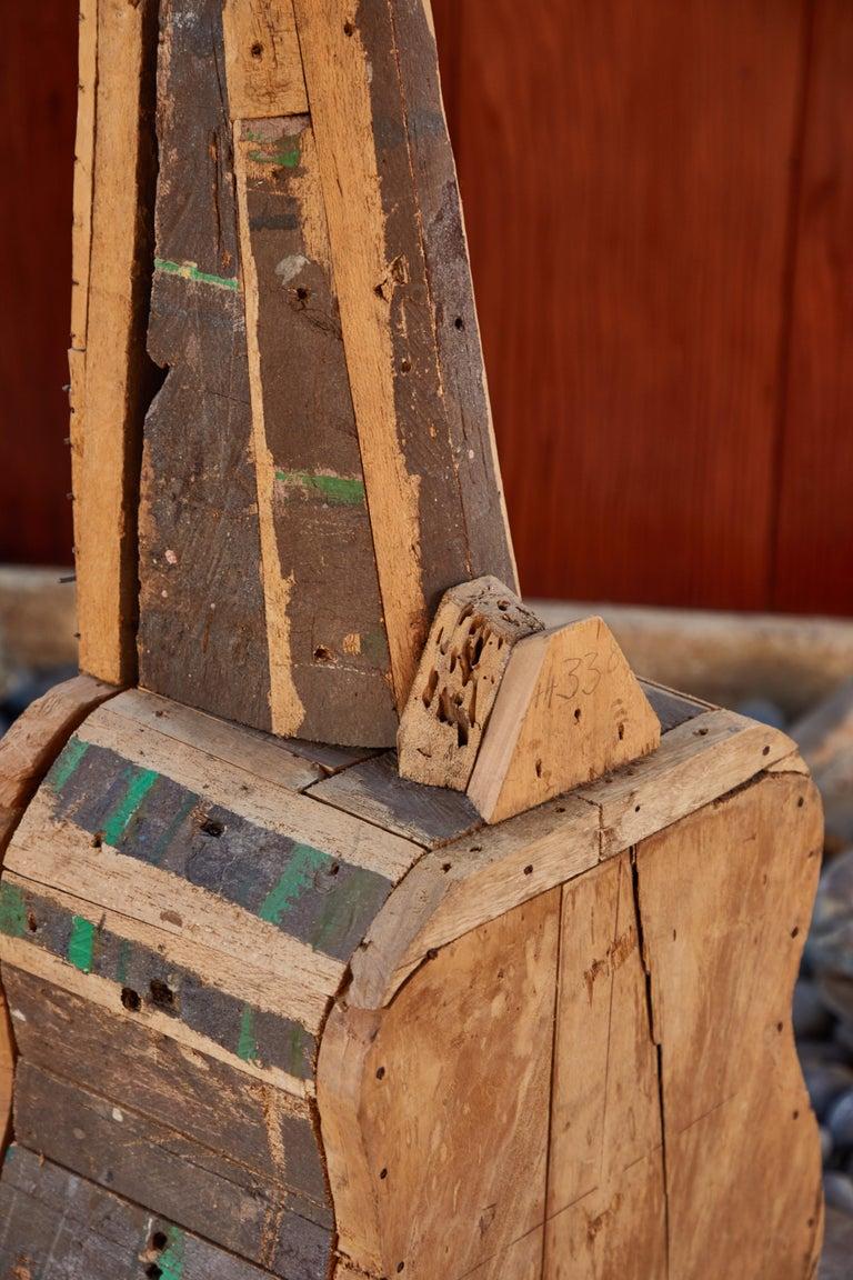 Large Reclaimed Wood Guitar Sculpture by African Folk Artist Nii Adum For Sale 3