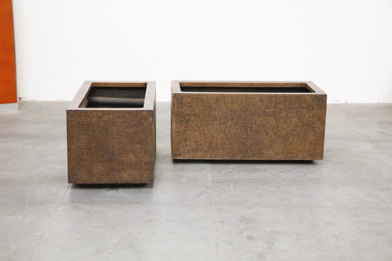 Mid-Century Modern Large Rectangular Architectural Fiberglass Planters by Forms and Surfaces For Sale