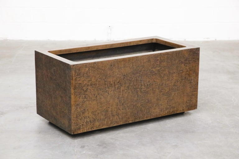Large Rectangular Architectural Fiberglass Planters by Forms and Surfaces For Sale 2