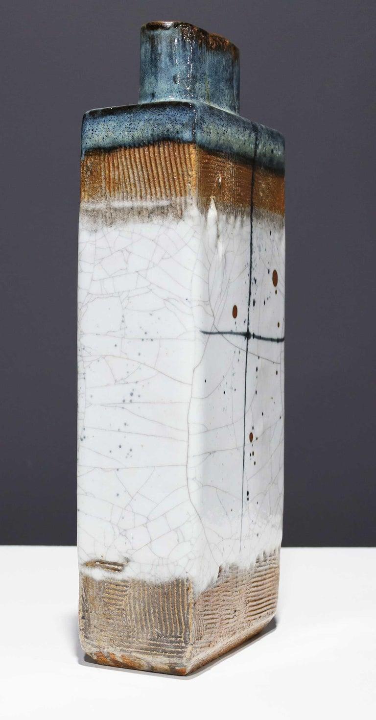 Mid-Century Modern Large Rectangular Ceramic Vase by Albert Green For Sale