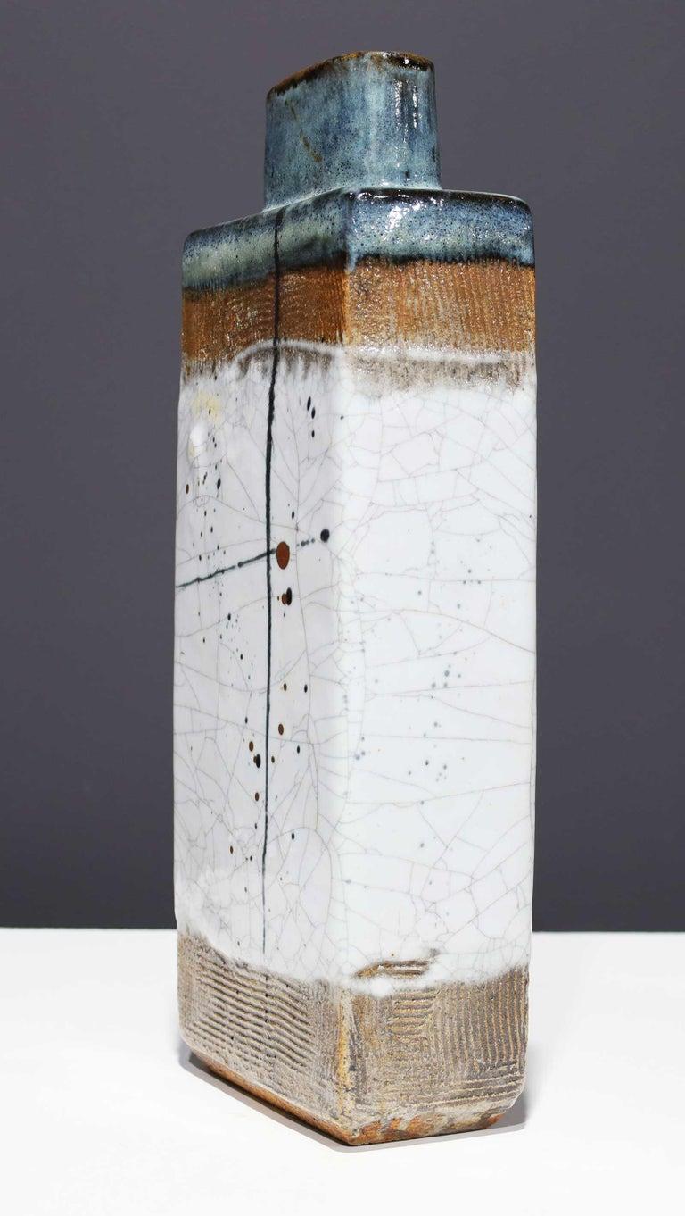 North American Large Rectangular Ceramic Vase by Albert Green For Sale