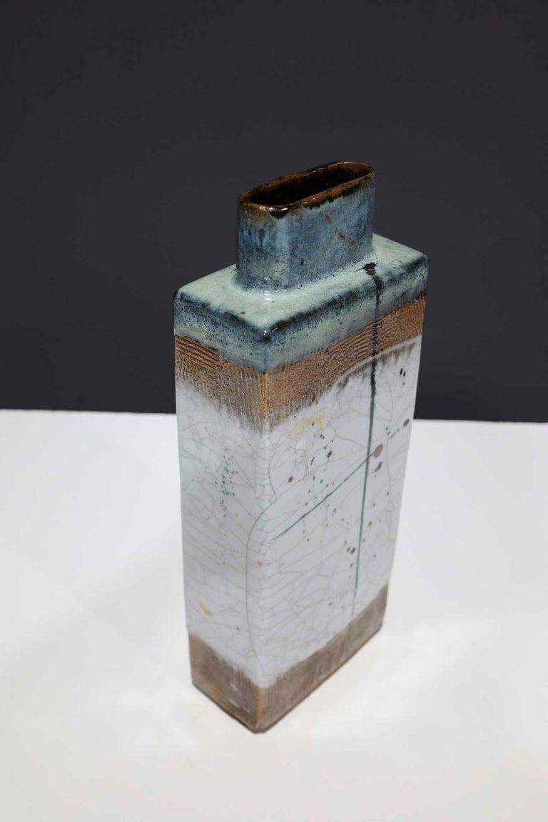 Large Rectangular Ceramic Vase by Albert Green For Sale 1