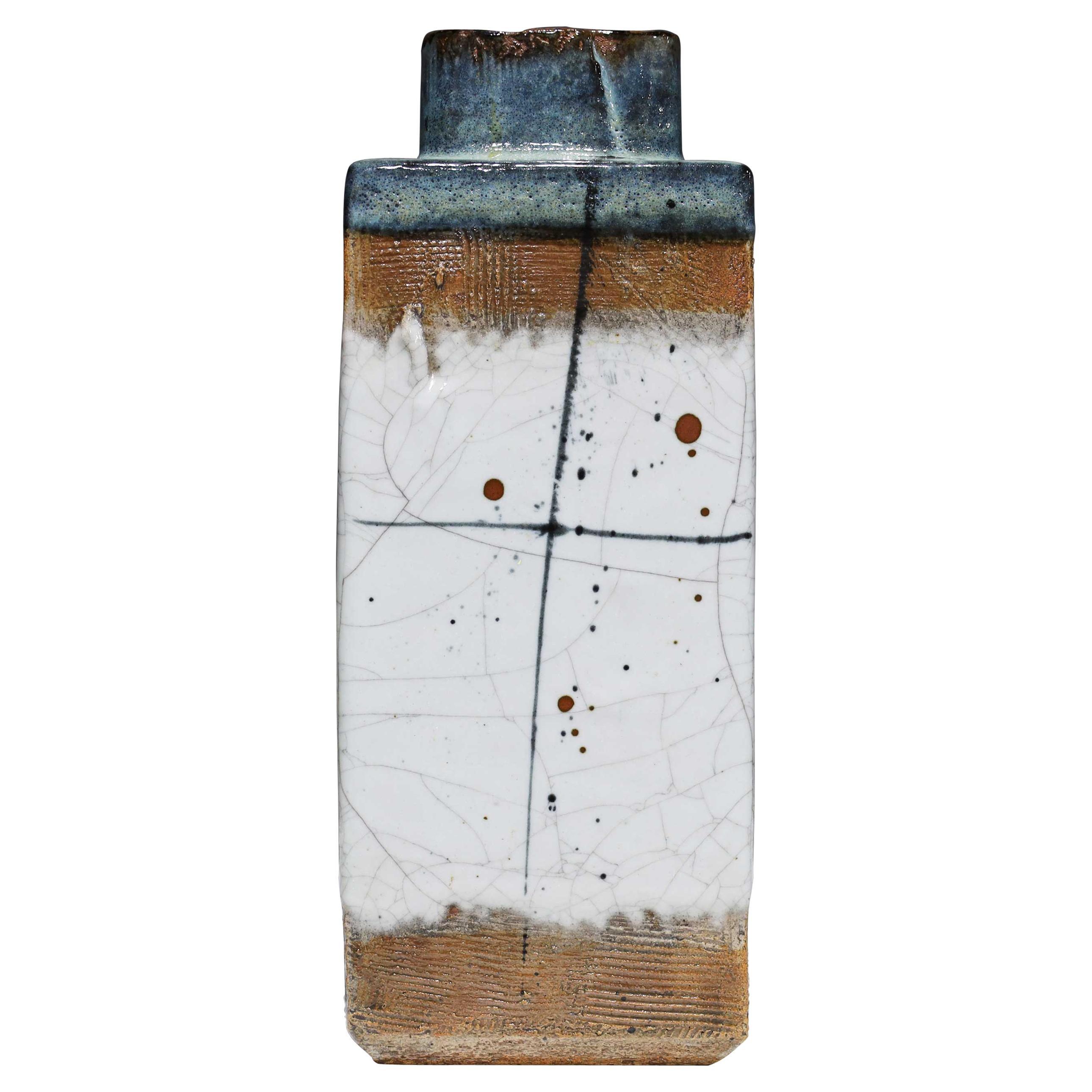 Large Rectangular Ceramic Vase by Albert Green
