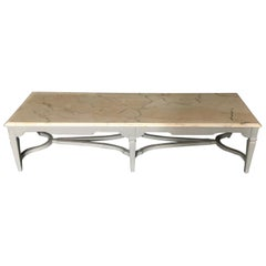 Large Rectangular Coffee Table with Beveled Carrera Top