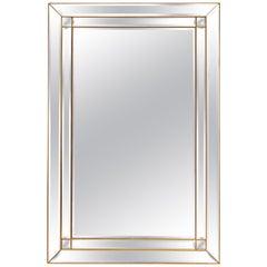 Large Rectangular Modern Mirror from Belgium (H 56 x W 37)