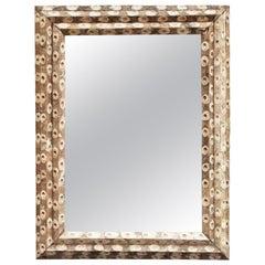 Large Rectangular Oyster Stick Mirror