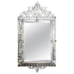 Large Rectangular Venetian Mirror