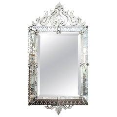 Large Rectangular Venetian Mirror