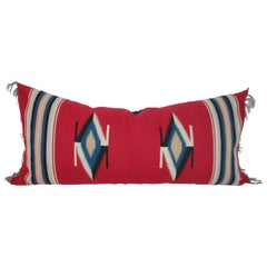 Large Red Eye Dazzler Pillow with Fringe