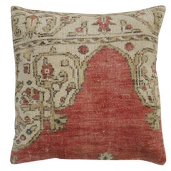 Large Red Turkish Rug Pillow