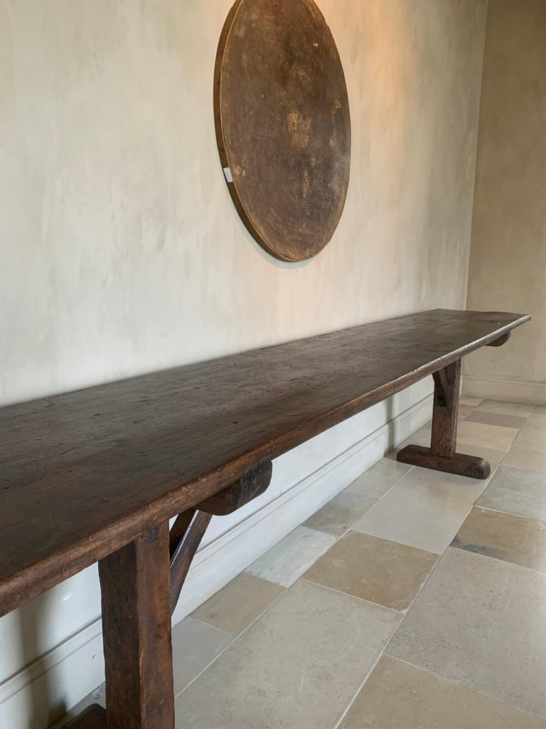 Large Refectory Console Table For Sale 3