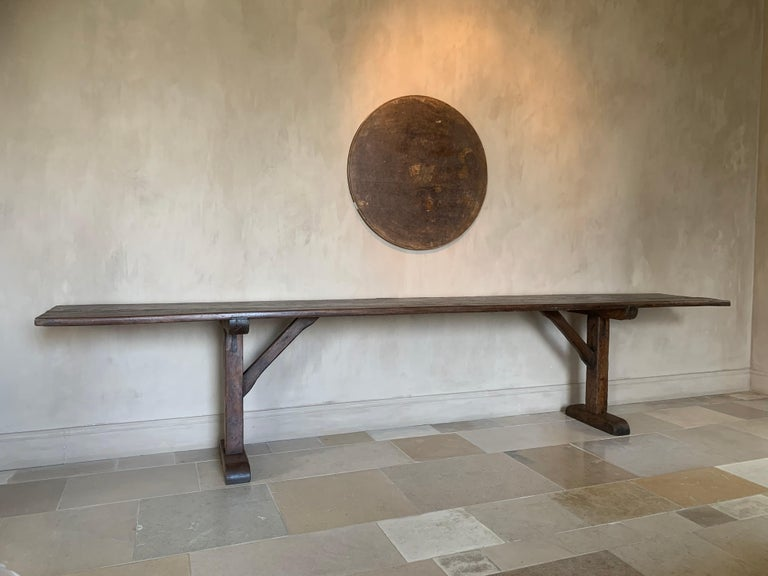 Large Refectory Console Table For Sale 5