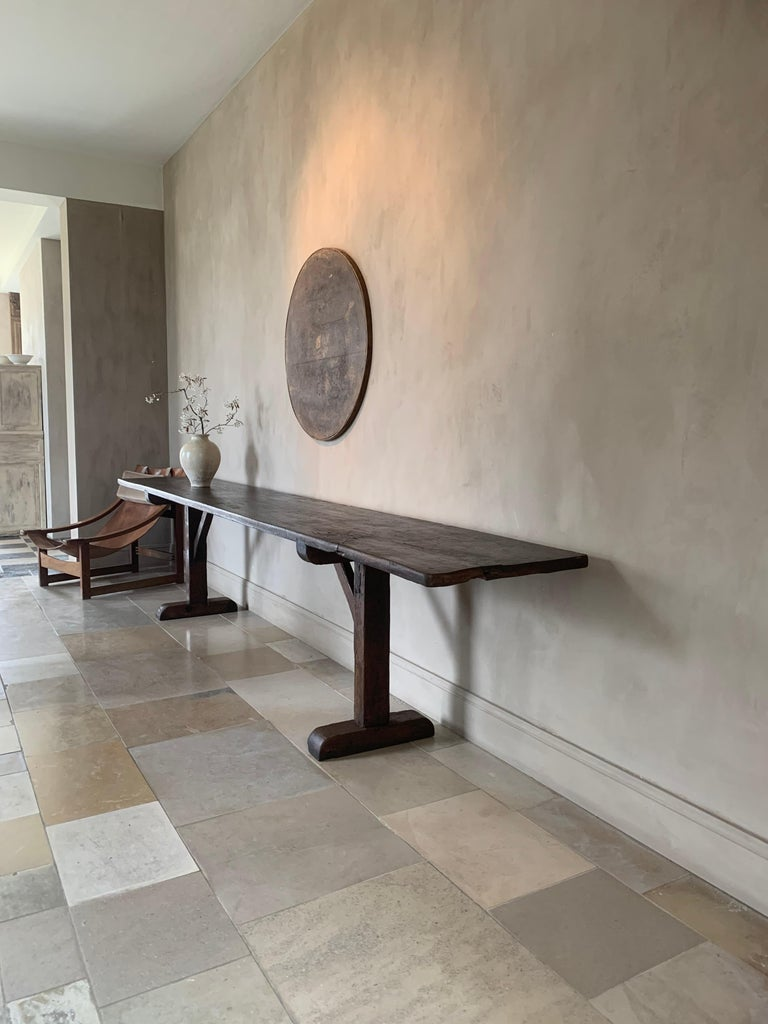 Spanish Large Refectory Console Table For Sale