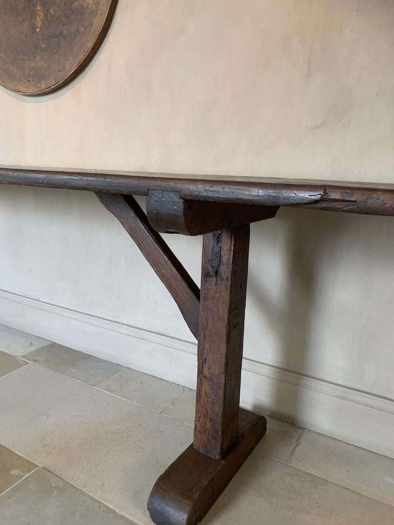 Large Refectory Console Table In Good Condition For Sale In Vosselaar, BE
