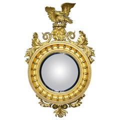 Large Regency Convex Wall Mirror, circa 1820