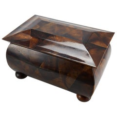 """Large """"Regency III"""" Tessellated Young Pen Shell Tea Caddy or Hinged Box, 1990s"""