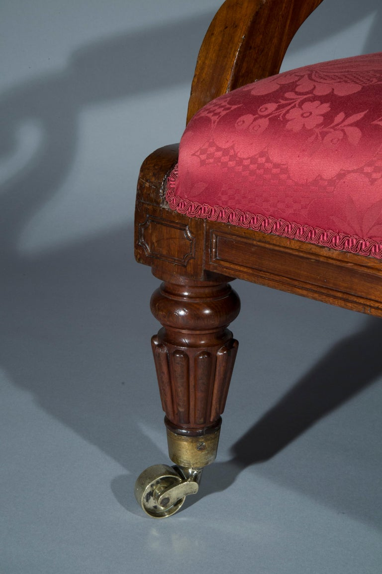 English Large Regency Library Armchair, attributed to Gillows For Sale