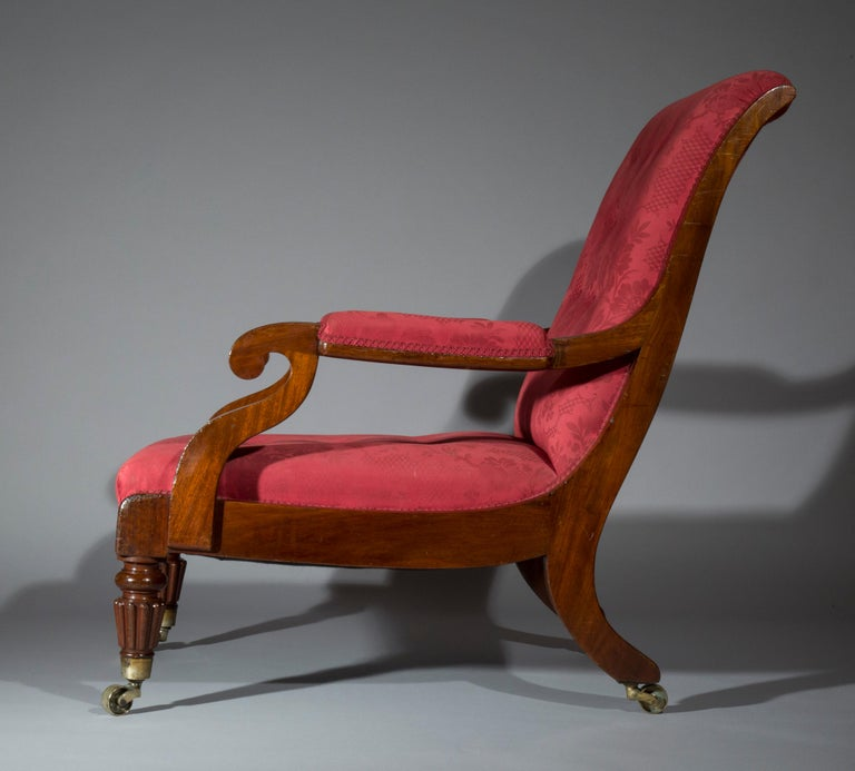 Large Regency Library Armchair, attributed to Gillows In Good Condition For Sale In London, GB