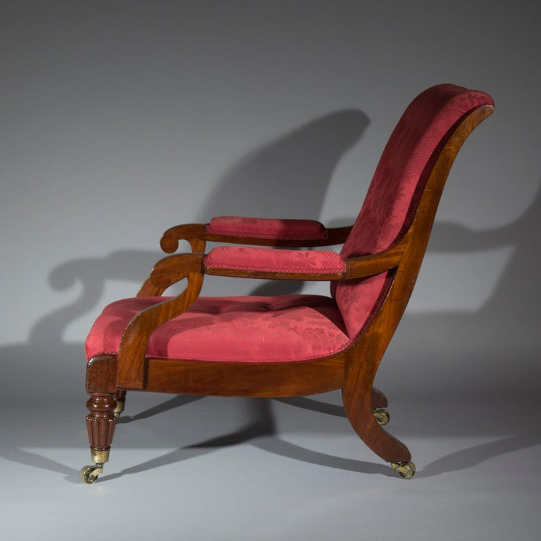 Large Regency Library Armchair, attributed to Gillows For Sale 1