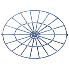 Large Regency Period Cast Iron Oval Window