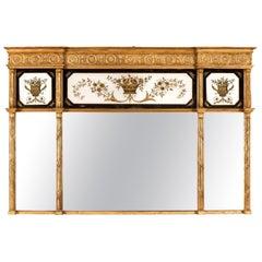 Large Regency Period Over-Mantel Mirror