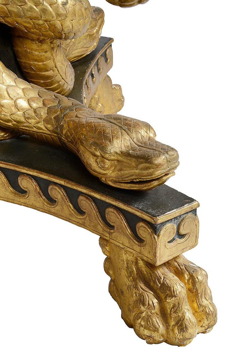 Hand-Carved Large Regency period Specimen marble table center table, circa 1820 For Sale