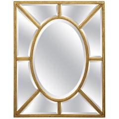 Large Regency Style Giltwood Mirror