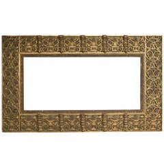 Large Renaissance Style Giltwood Carved Mirror Frame