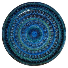 Large Rimini Blue Bowl / Plate by Aldo Londi for Bitossi, Italy