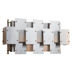 "Large Robert Sonneman ""Cityscape"" Wall Sconce, circa 1970s"
