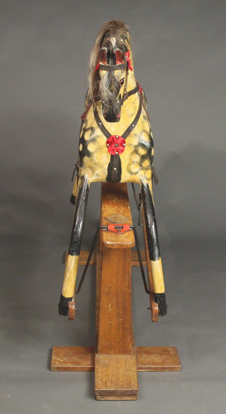 English Large Rocking Horse by Collinson For Sale